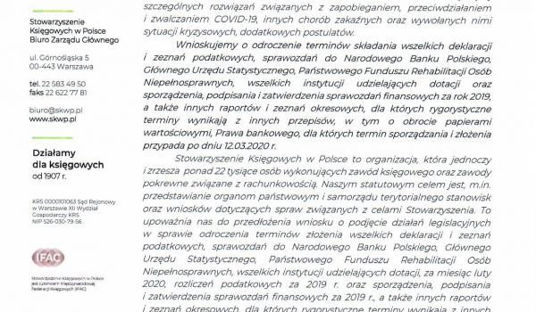 Pismo do Prezesa Rady Ministrów
